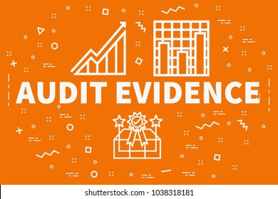 Conceptual business illustration with the words audit evidence