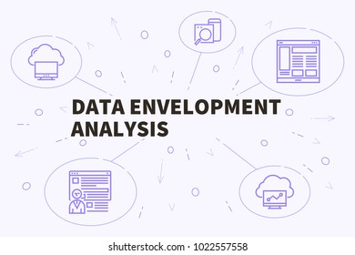 Conceptual business illustration with the words data envelopment analysis