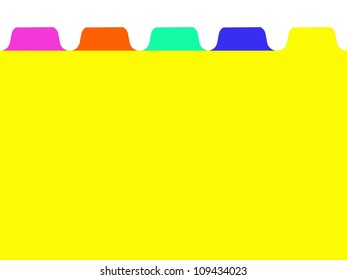 A conceptual business image using stationery file dividers