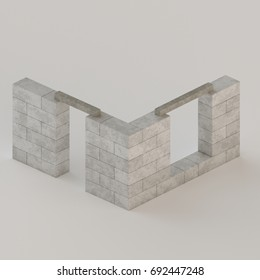 Conceptual depiction of house walls made of concrete blocks with window and door lintels installed. & Window Lintel Images Stock Photos \u0026 Vectors | Shutterstock