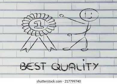 conceptual design about reaching success and best quality awards