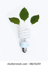 Conceptual fluorescent lightbulb