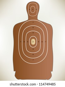 Conceptual hand drawn illustration of Law Enforcement Shooting Target. Proposed colors.