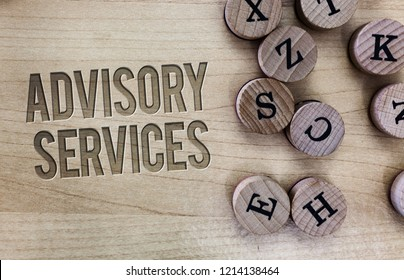 Conceptual hand writing showing Advisory Services. Business photo showcasing Support actions and overcome weaknesses in specific areas
