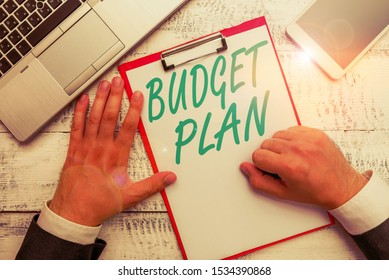 Conceptual hand writing showing Budget Plan. Business photo text financial schedule for a defined period of time usually year.