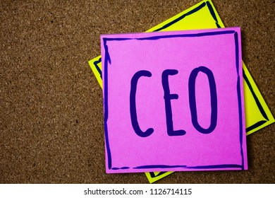 Conceptual hand writing showing Ceo. Business photo text Chief Executive Officer Head Boss Chairperson Chairman Controller Wicker background message communicate intentions feelings thoughts.