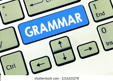 Conceptual hand writing showing Grammar. Business photo text System and Structure of a Language Correct Proper Writing Rules
