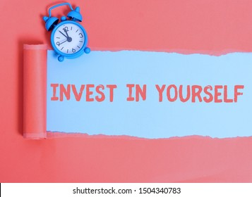 Conceptual hand writing showing Invest In Yourself. Business photo text learn new things or materials thus making your lot better.