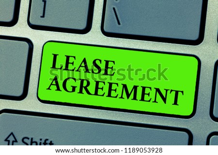 Conceptual Hand Writing Showing Lease Agreement Stock Photo Edit