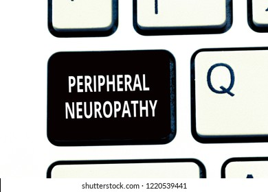 Conceptual hand writing showing Peripheral Neuropathy. Business photo text Condition wherein peripheral nervous system is damaged