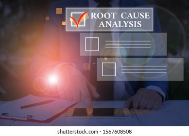 Conceptual hand writing showing Root Cause Analysis. Business photo text Method of Problem Solving Identify Fault or Problem.