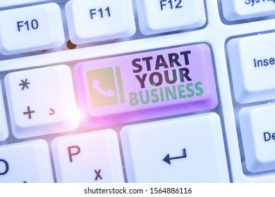 Conceptual hand writing showing Start Your Business. Business photo text going into a New Venture Create New Product Services.