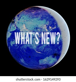 Conceptual hand writing showing What S New Question. Business photo text when you ask someone about his current live events actions Elements of this image furnished by NASA.