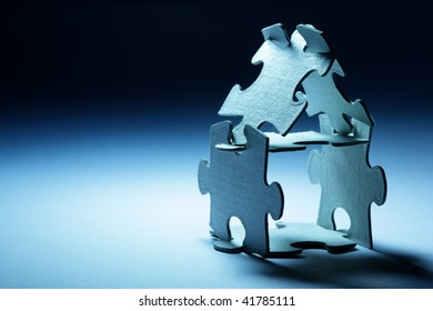 Conceptual home from puzzle