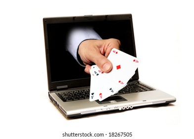 conceptual illustration for on-line casino and gambling