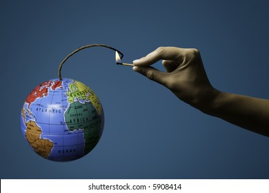 Globe Bomb Images, Stock Photos & Vectors | Shutterstock