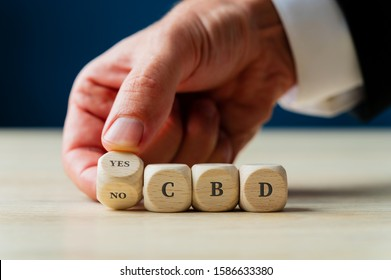 Conceptual image of CBD legalization and use.