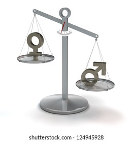 conceptual image concerning equality of men and women