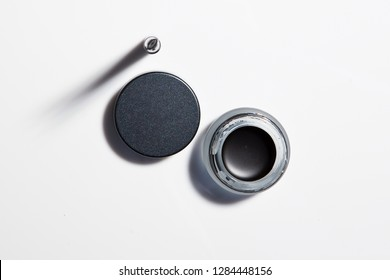 Conceptual Image of Cosmetics Eye Liner. Topview.