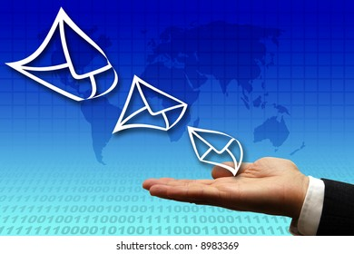 conceptual image for electronic mail business solutions