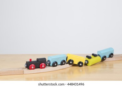 Conceptual image failure, lack of concentration. Derailed train