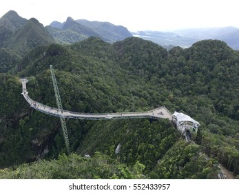 Conceptual image of holiday - Beautiful aerial views of Sky bridge, Langkawi, Malaysia