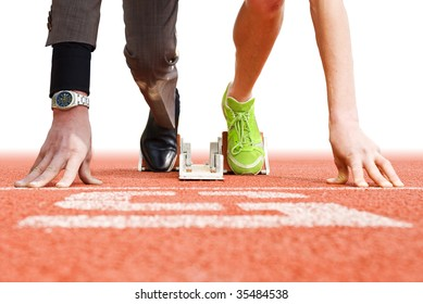 Conceptual image illustrating that being successful in business has strong parallels to being successful in top sports