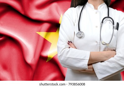 Conceptual image of national healthcare system in Vietnam