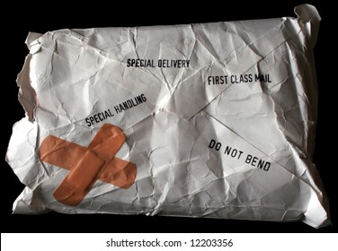 Conceptual image of a not so Special Delivery package.