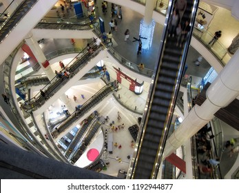 conceptual image of people at shopping mall