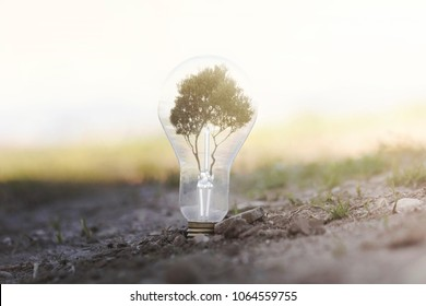 conceptual image of renewable energy