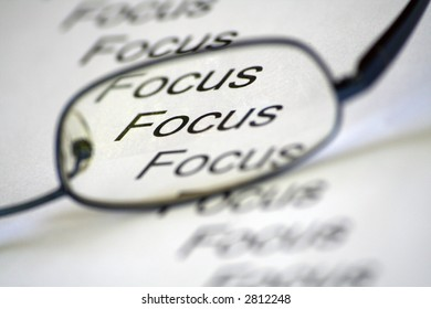 conceptual image representing focus with spectacles