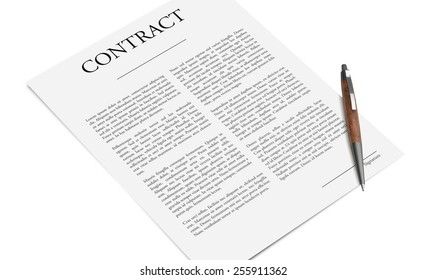 Conceptual image of signing an agreement
