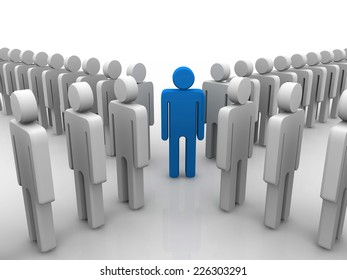 Conceptual image of teamwork. 3D image