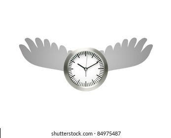 A conceptual image of  a time flying