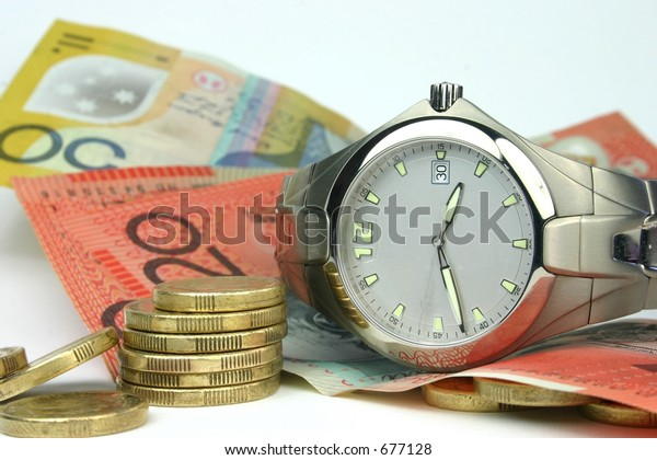 Conceptual image of 'time and money'