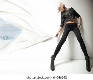 Conceptual image of a young fashionable beauty