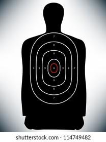 Conceptual Law Enforcement Shooting Target. Proposed colors.