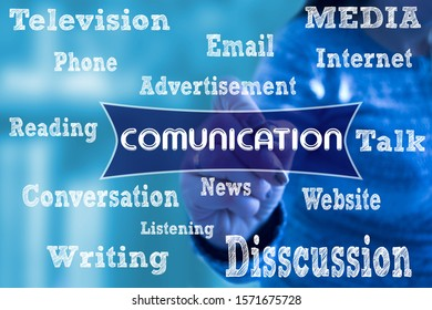 "Conceptual message writing showing ""comunication"". Business photo. Conceptual photo list of things that are going to become popular in 2020. year."