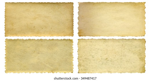 Conceptual old vintage dirty or grungy paper background set collection isolated on white background ideal for antique, grunge, texture, retro, aged, ancient, dirty, frame, manuscript material designs