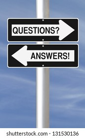 Conceptual one way street signs on Questions and Answers