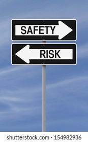 Conceptual one way street signs on safety and risk