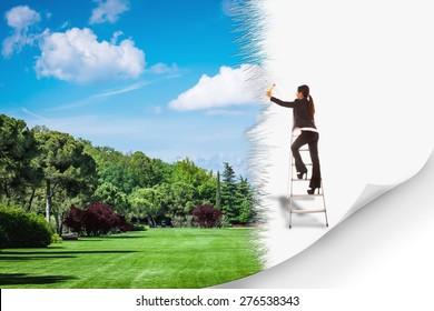 Conceptual photo of green environment