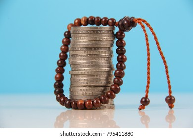 Conceptual photo for Islamic economy and financial with one hundred Malaysia.
