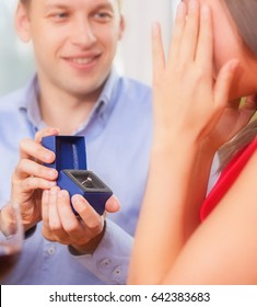 Conceptual photo of marriage proposal