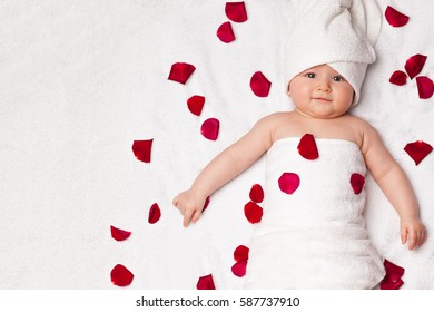 Conceptual photo of newborn baby wellness