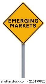 A conceptual road sign indicating Emerging Markets