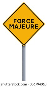 Conceptual road sign indicating Force Majeure