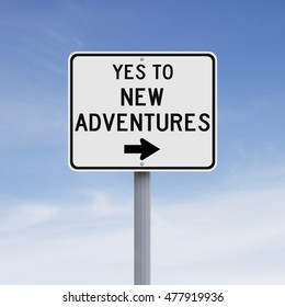 Conceptual road sign on Adventure