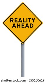 Conceptual road sign on Reality